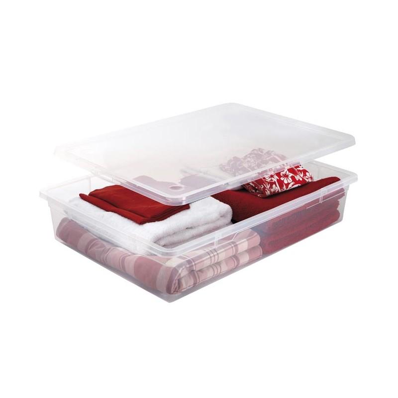 Clear box 55l sundis - Boite de rangement sous le lit ...